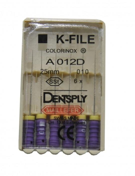 Dent Dentsply Maillefer K-FILE 25mm 010