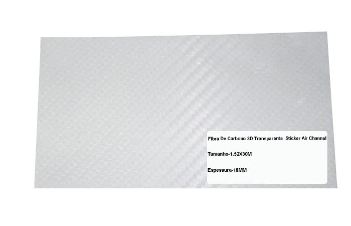 Adesivo Fibra De Carbono 3d Moldável Tipo Di-noc Texturizado Modelo B-12 Transparente