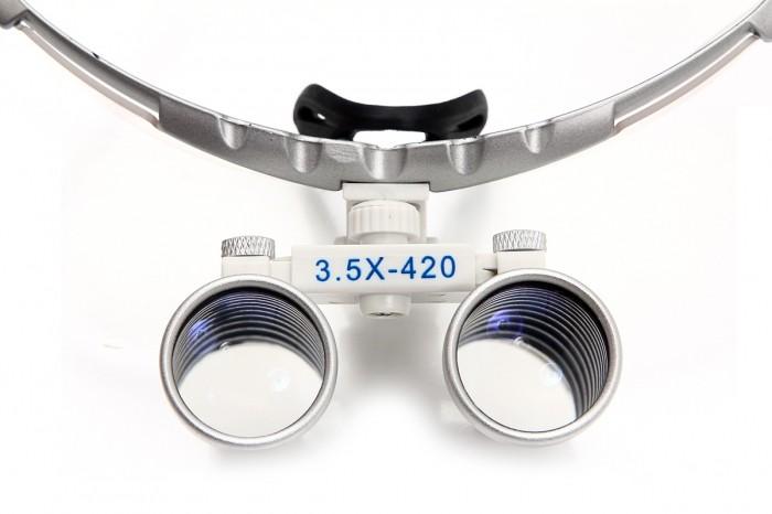 Lupas Cirúrgica Titan 3.5x420mm Head Lamp Led Optical White