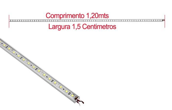VOYAGER BARRA DE ALUMINIO DE LED COR BRANCA 1.2Mts