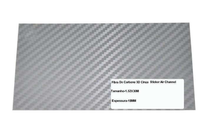 Adesivo Fibra De Carbono 3d Moldável Tipo Di-noc Texturizado Modelo B-2 Prata