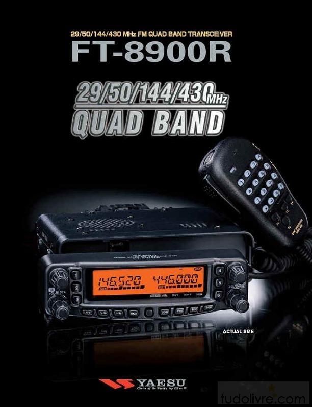 YAESU RADIO 4 BANDAS FT-8900
