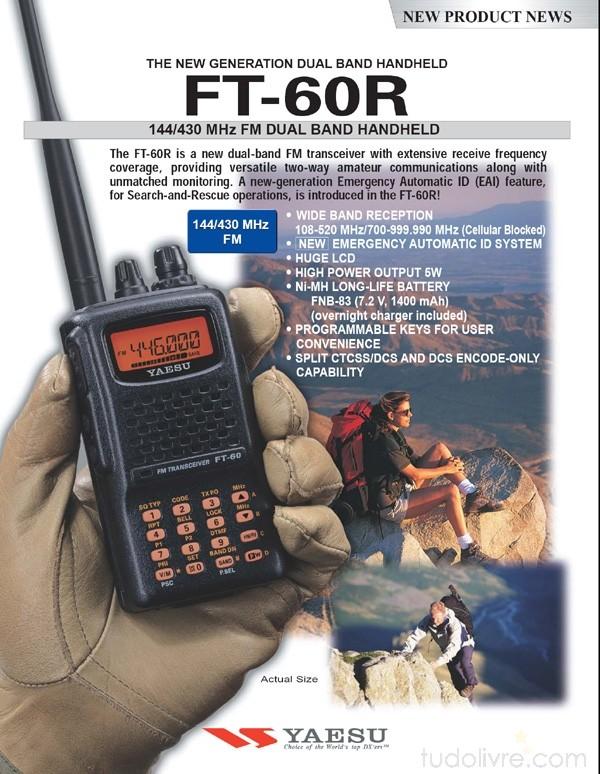 YAESU RADIO V/UHF FT-60R