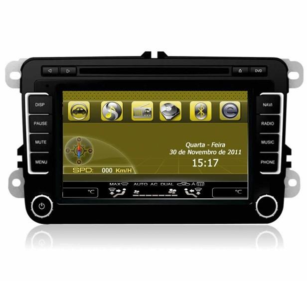Central Multimidia Passat/Jetta/Tiguan//Caddy/Magotan/Sagitar/Touran/GTI/GLI Modelo C7037VT Ano 2011/2012