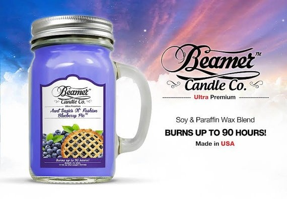 Essencia Beamer Candle Blueberry Pie