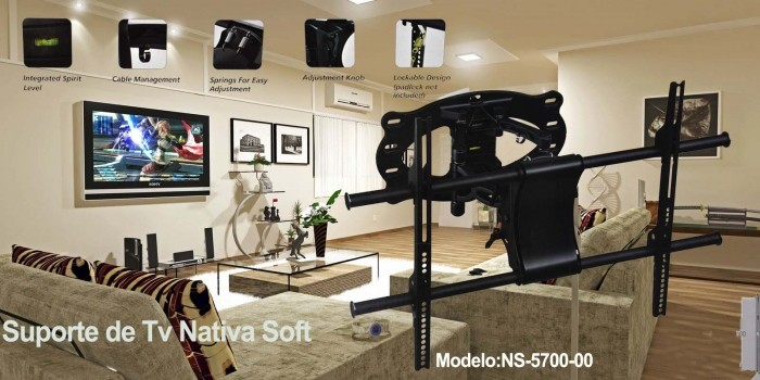 "NATIVASOFT SUPORTE TV /  MONITOR 37"" - 60"" MOD. NS-5700-00"