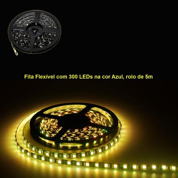 VOYAGER FITA FLEXIVEL COM 300 LEDS COM 7 CORES, ROLO DE 5M