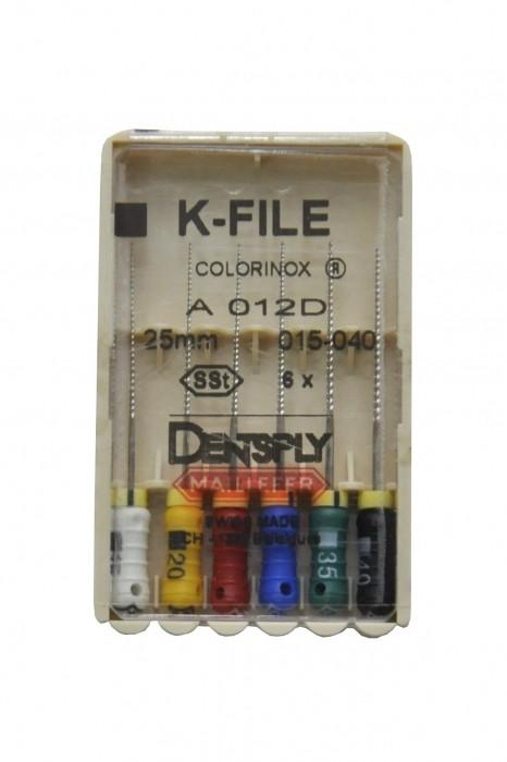 Dent Dentsply Maillefer K-FILE 25mm 015-040