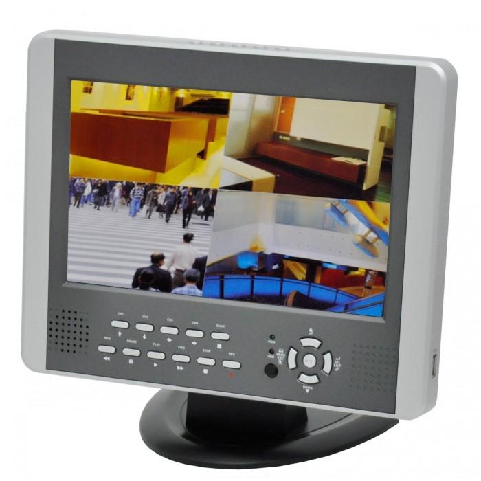 DVR Com Tela 10 Polegadas Voyager VR-1004 4 Canais