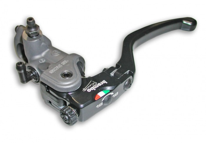 Brembo Radial Clutch Master Cylinder Brembo 16RCS, fold-up lever, 16-18 ratio