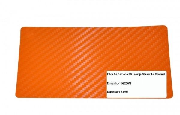 Adesivo Fibra De Carbono 3d Moldável Tipo Di-noc Texturizado Modelo B-10 Laranja