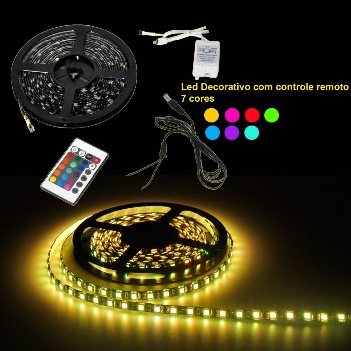 Fita Flexível com 150 LEDs com 7 cores, rolo de 5m