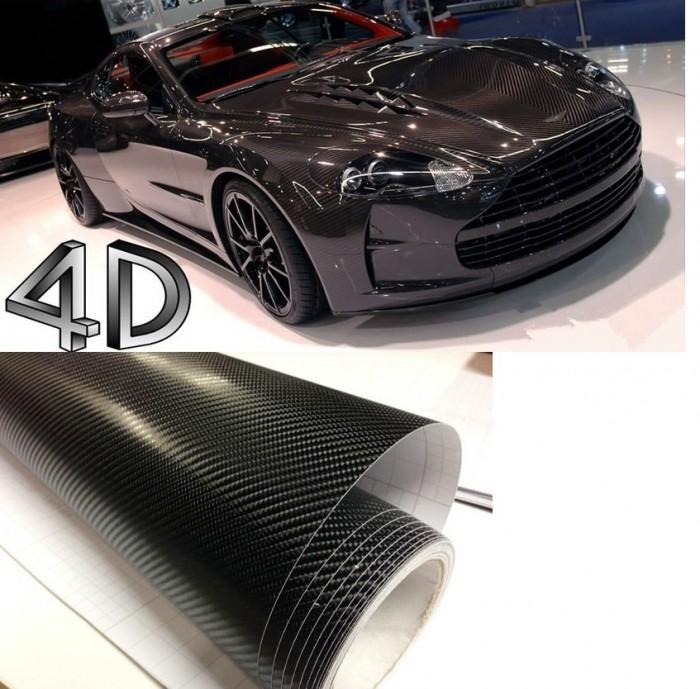 Adesivo Fibra De Carbono 4d Moldável Tipo Vidro Glossy Modelo SG-07