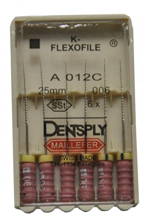 Dent Dentsply Maillefer K-FLEXOFILE 25mm 006