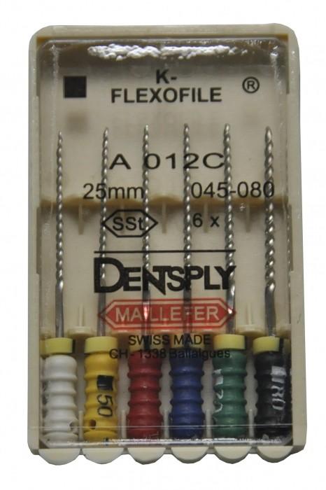 Dent Dentsply Maillefer K-FLEXOFILE 25mm 45-80