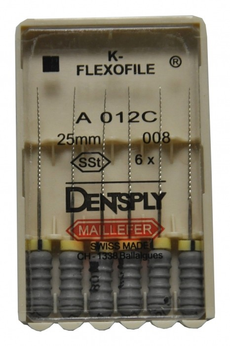 Dent Dentsply Maillefer K-FLEXOFILE 25mm 008
