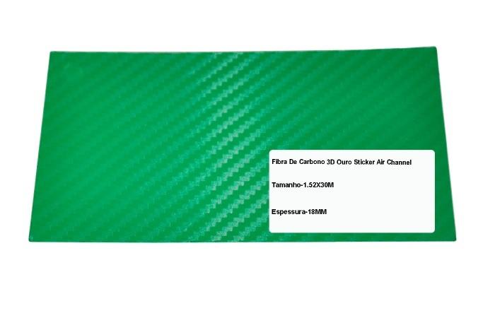 Adesivo Fibra De Carbono 3d Moldável Tipo Di-noc Texturizado Modelo B-11 Verde