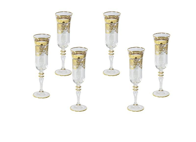 Conjunto Enesco E20 Para Champagne 6 Taças