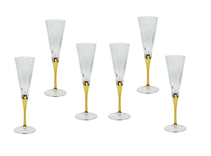 Conjunto Canba Atlanta Para Champagne 6 Taças