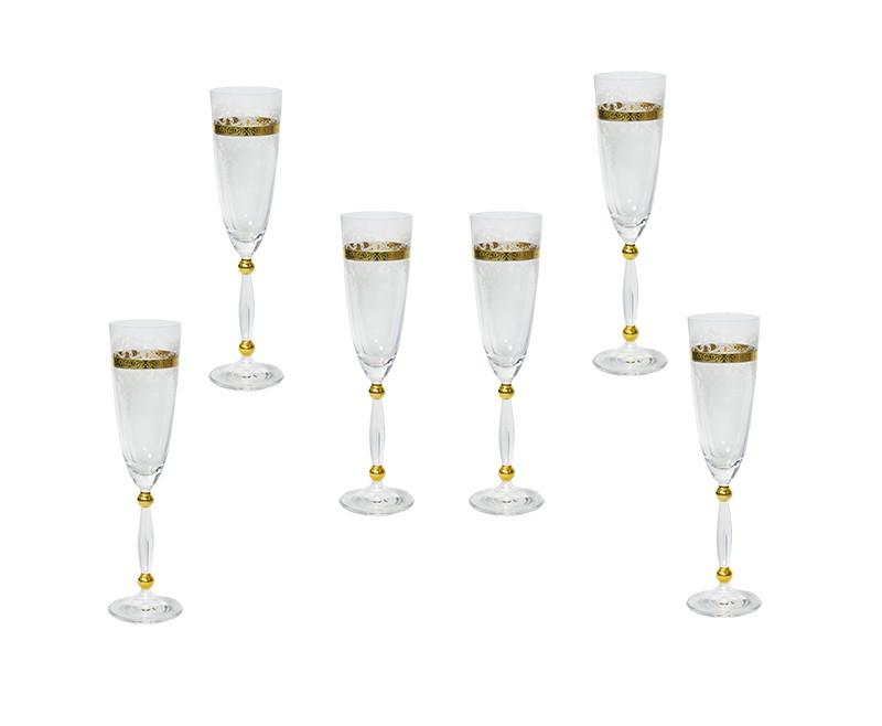 Conjunto Canba Caprice Para Champagne 6 Taças