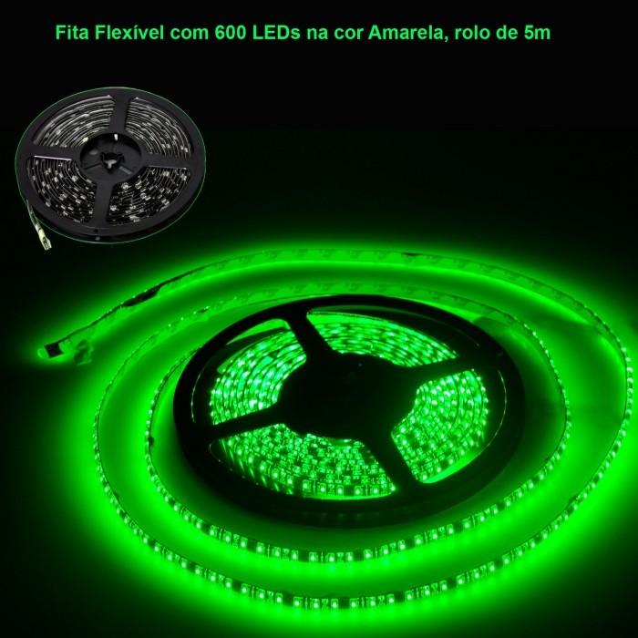 VOYAGER FITA FLEXIVEL COM 600 LEDS COM 7 CORES, ROLO DE 5M