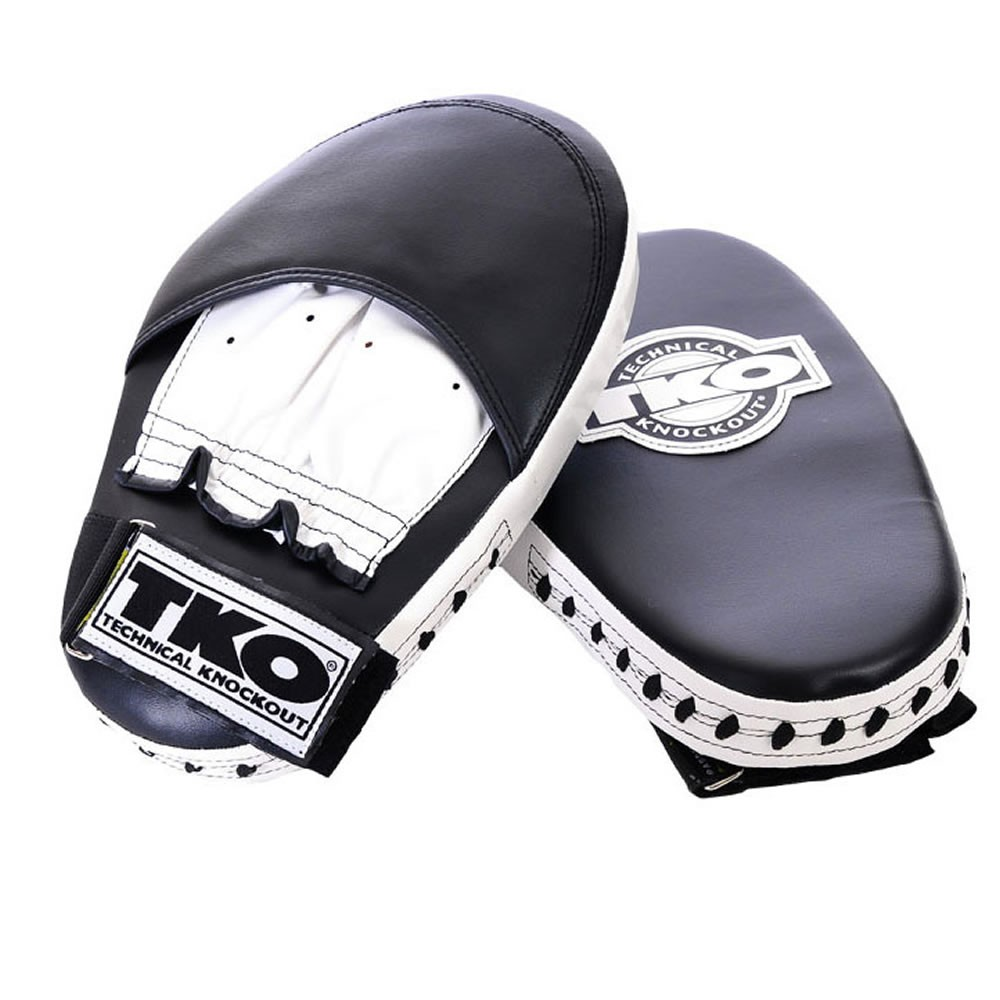 TKO Pro Style Punch Mitts, Black/White 501PPM
