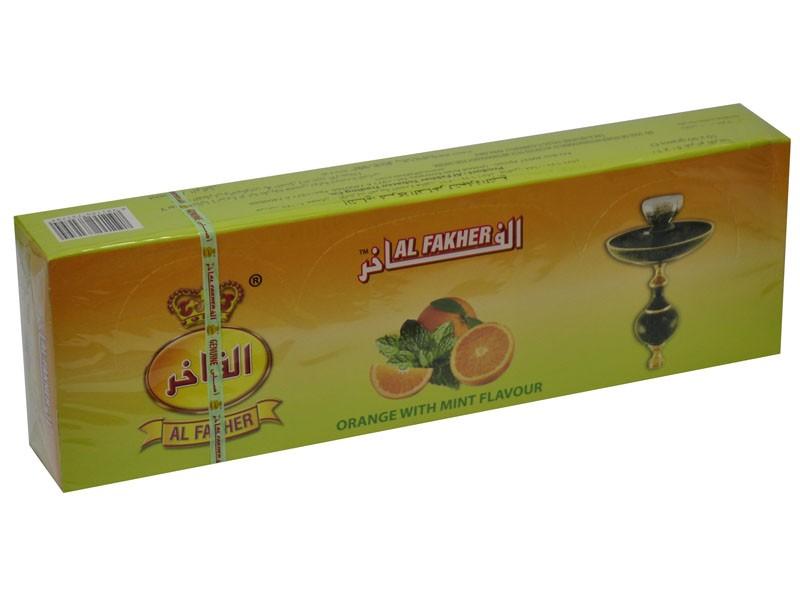 Arguile Tabaco Fakher Laranja e Menta 50G