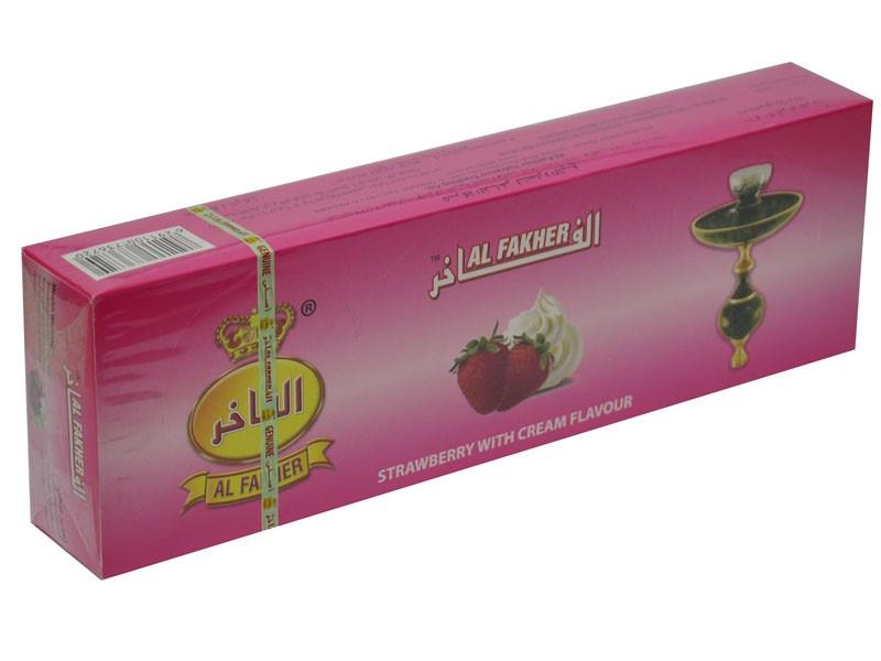 Arguile Tabaco Fakher Morango e Creme 50G