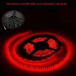 Fita Flexível com 600 LEDs na cor Vermelha, rolo de 5m