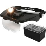 Optics Magnifier Head Lamp with 4 Different lenses TT-81001