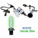 VOYAGER LAMPADA XENON HID9006 AC COR VERDE 12V 35W
