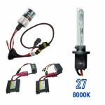 Kit Xenon HID27 DC Cor 8000K 12volts 35watts