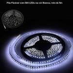 Fita Flexível com 600 LEDs na cor Branca, rolo de 5m